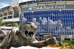 Sculpture of Jaguar outside of TIAA Bank Field