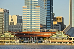 Urban skyline of Jacksonville with St. Johns River