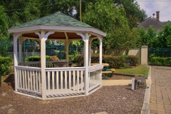 Gazebo and sitting area on site