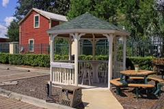 Gazebo and picnic table on site
