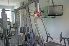 Exercise equipment with flatscreen tv