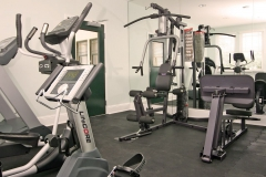 Gray exercise equipment
