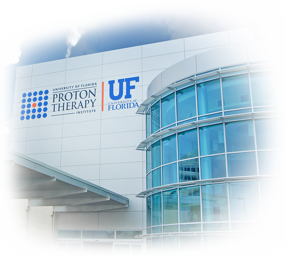 front of UF Proton Theraphy Center